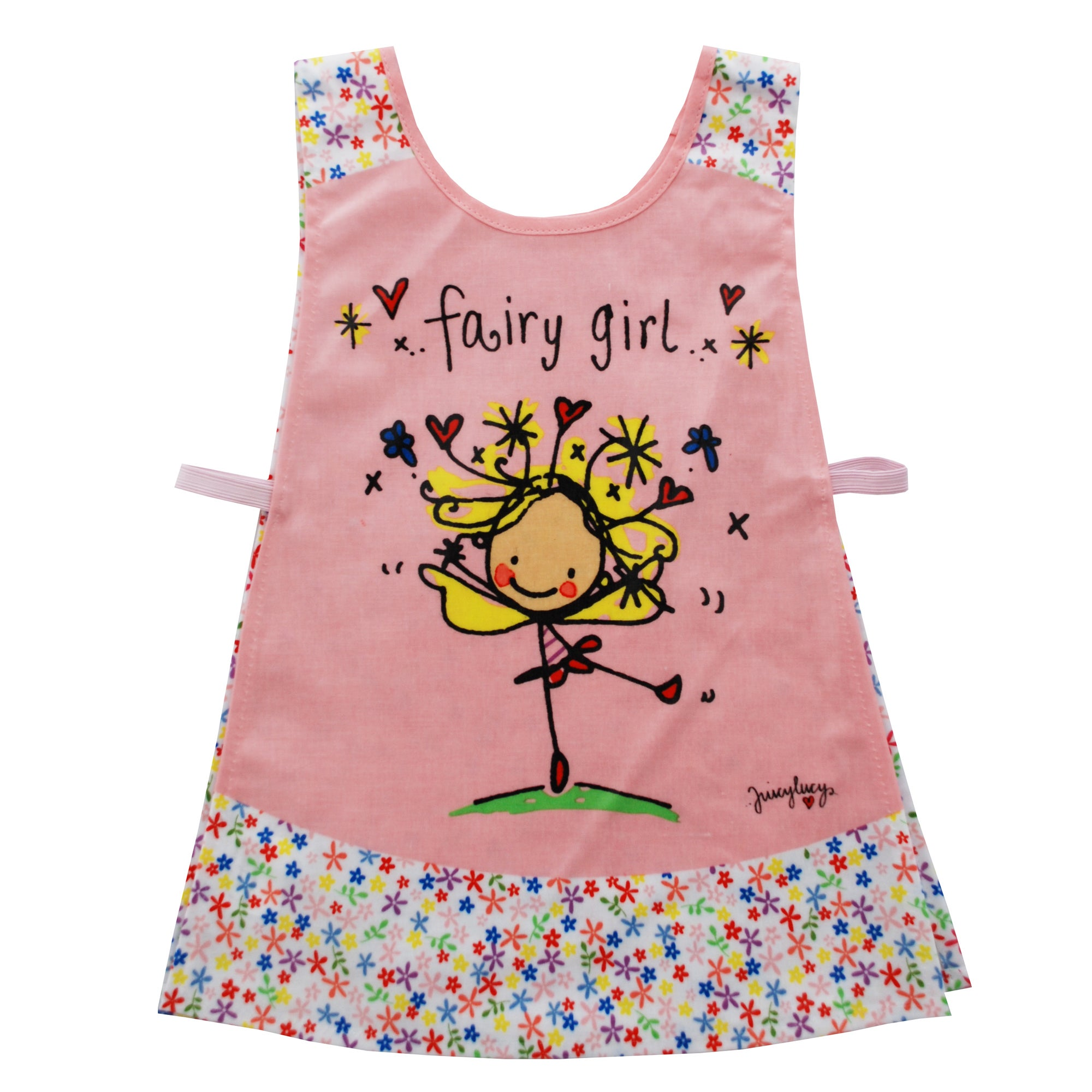 Kids Juicy Lucy Fairy Girl Pink Tabard