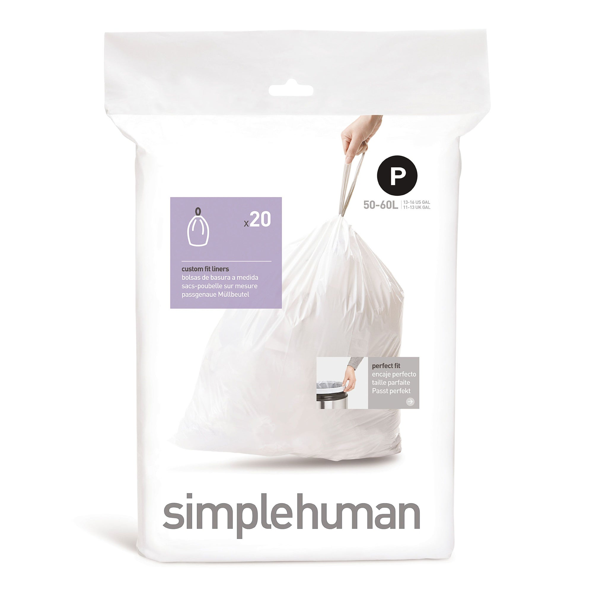 simplehuman 50-60 Litre Bin Liners