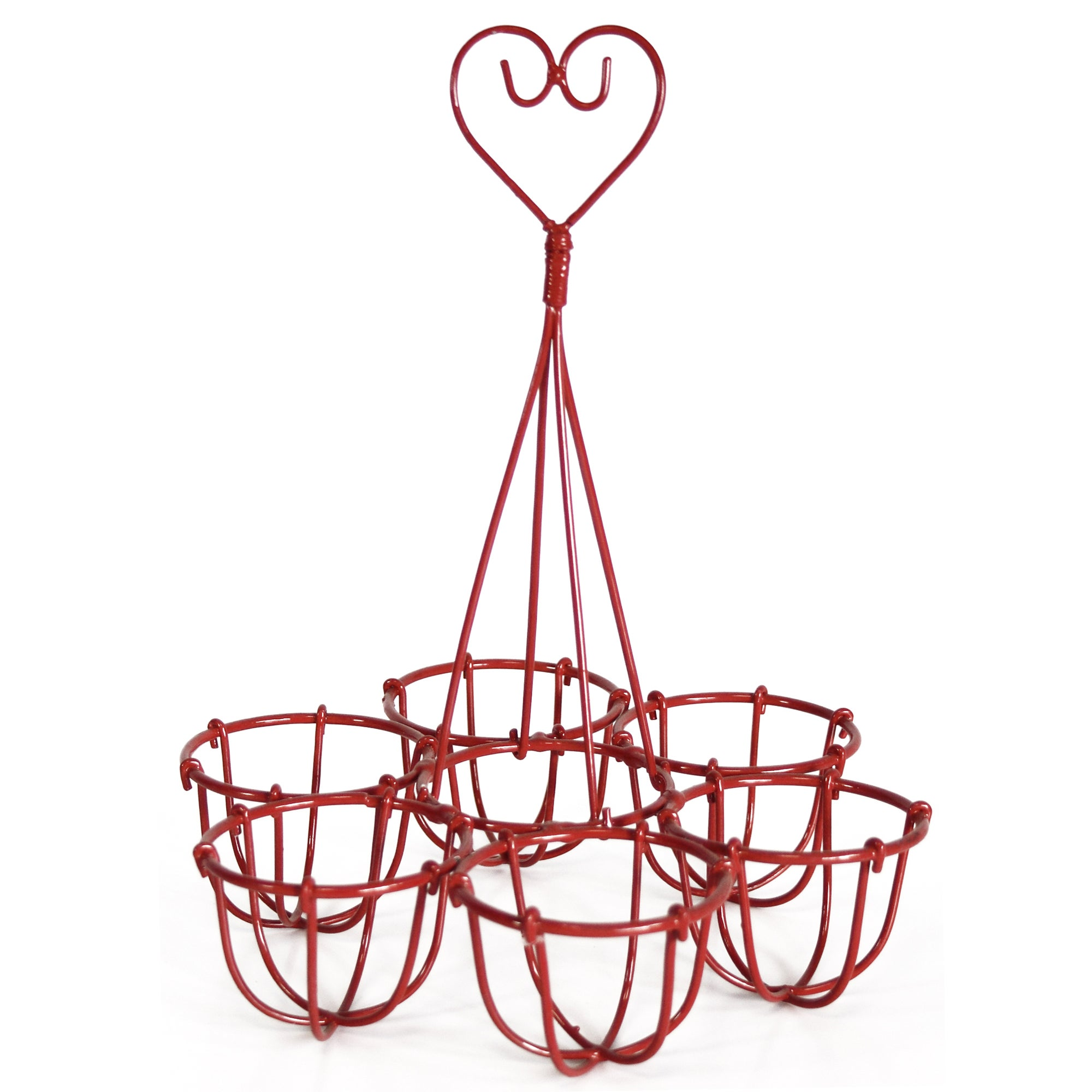 Cookshop Collection Red Wire Egg Holder
