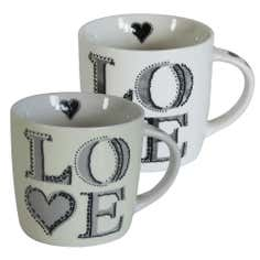 Grey Love Heart Mug
