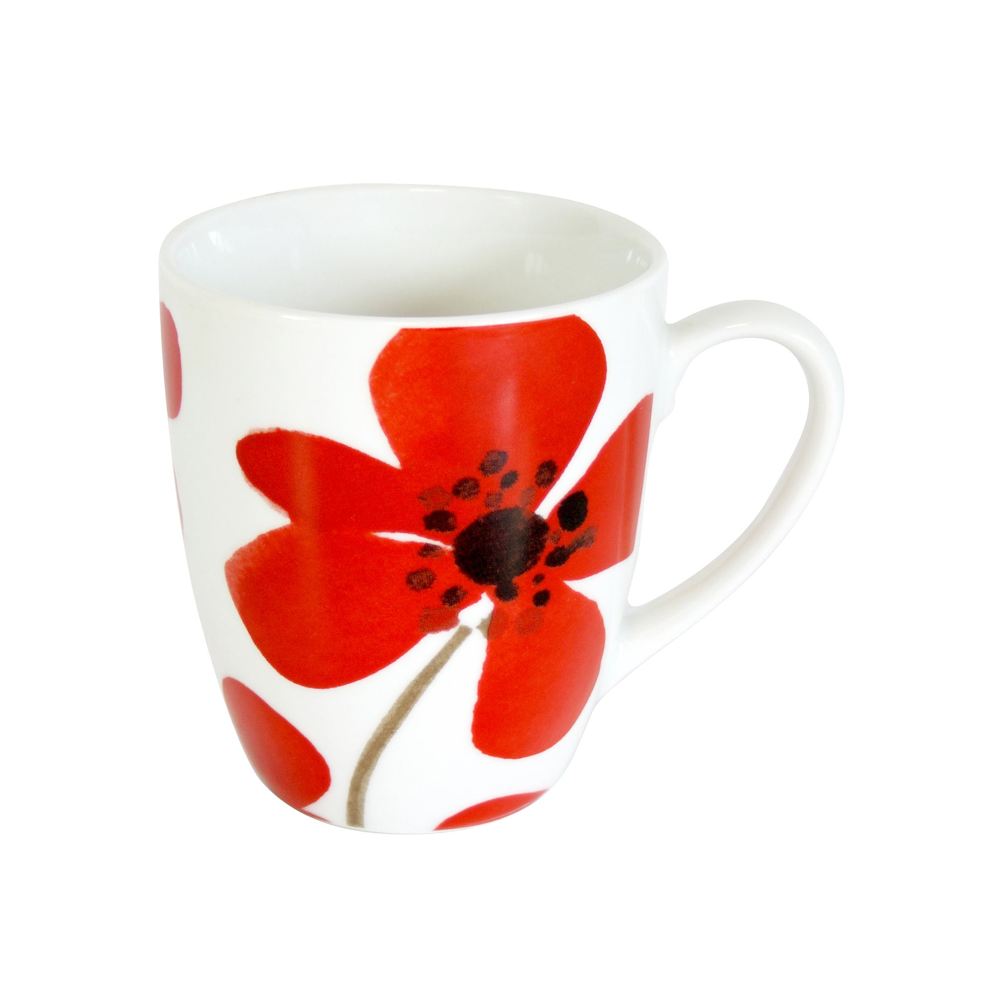 Red Painted Poppy Collection Mug