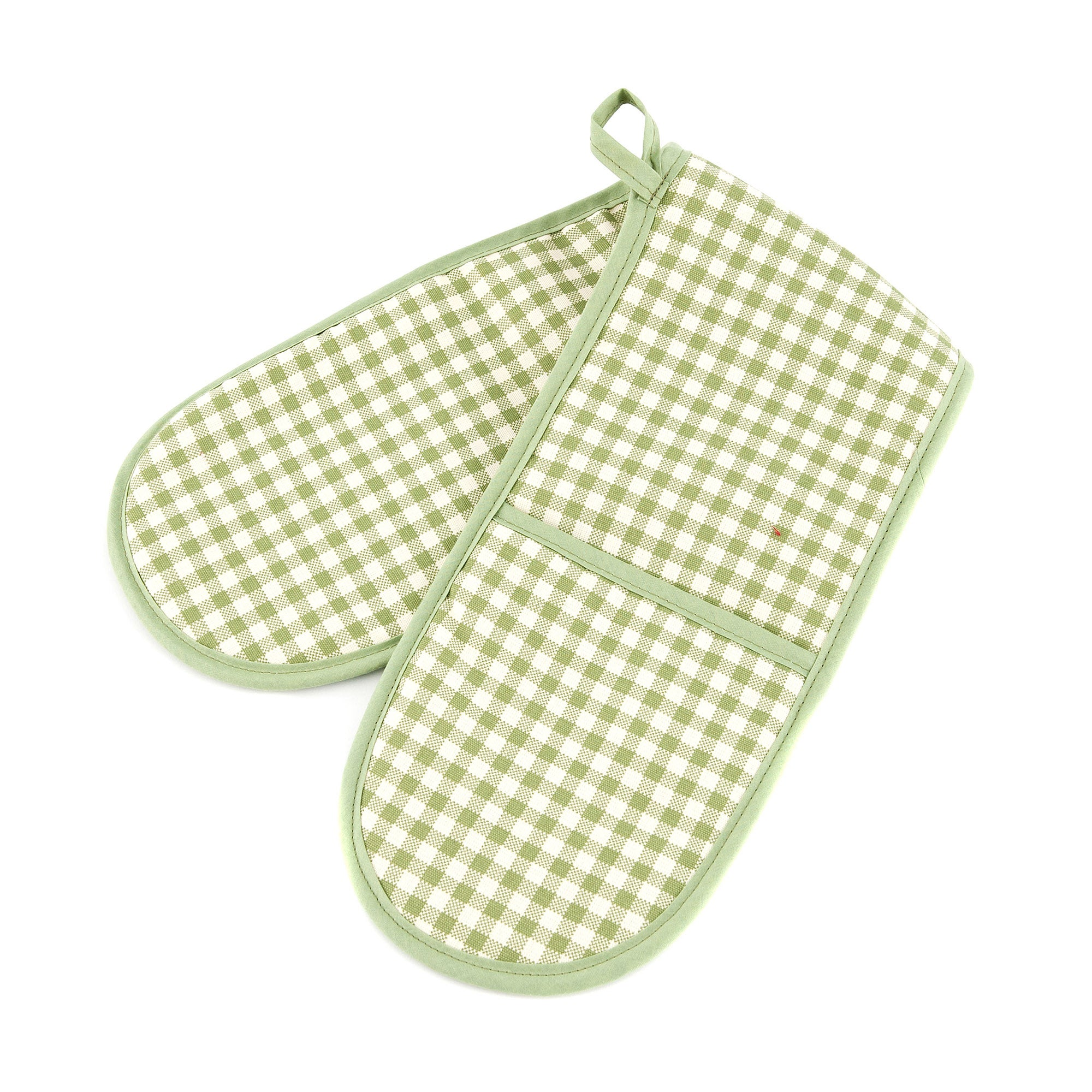 Gingham Collection Green Double Oven Glove