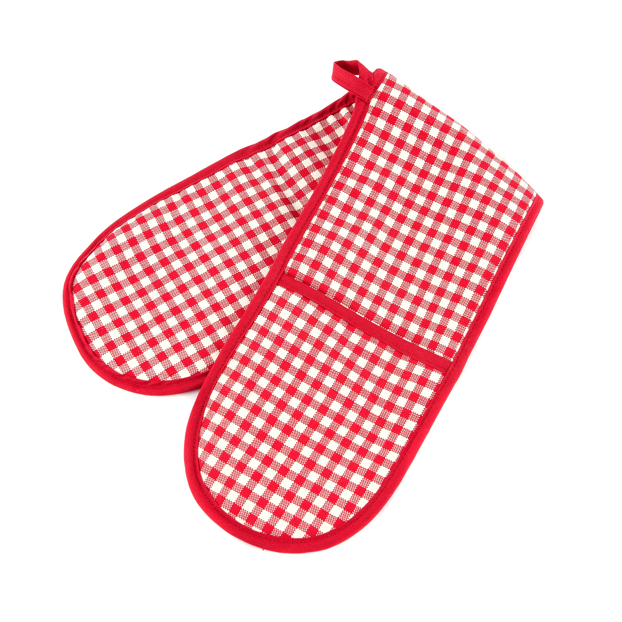 Gingham Collection Red Double Oven Glove