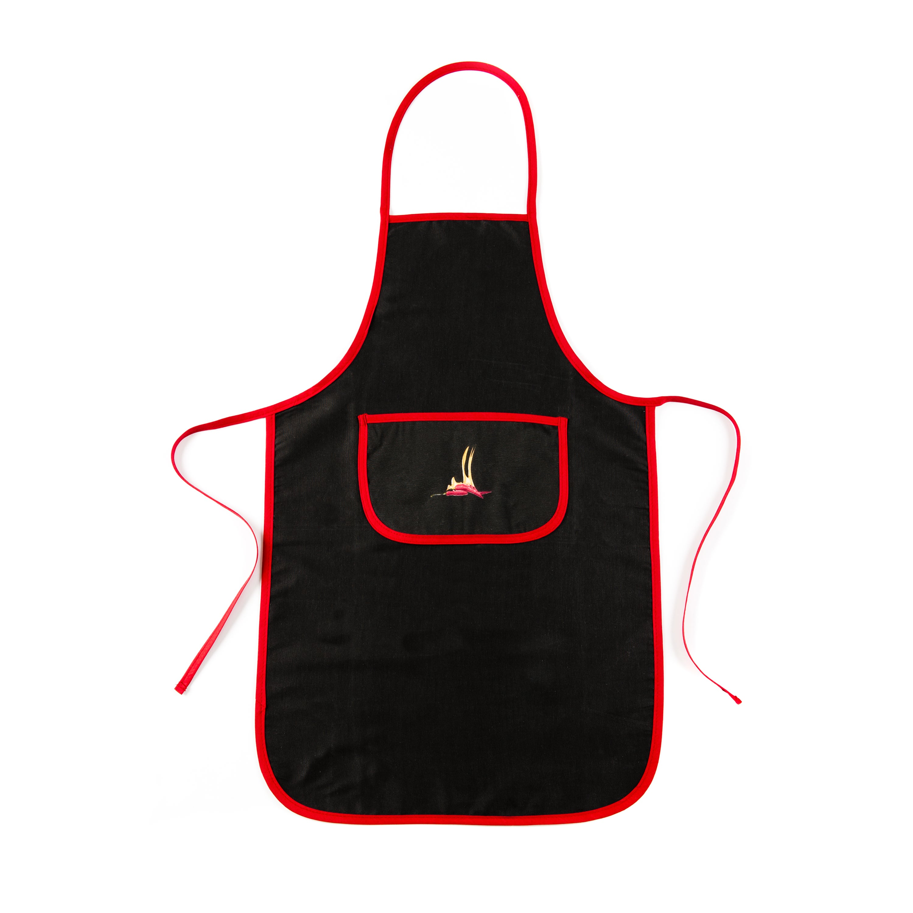 Flaming Chillies Collection Black Apron