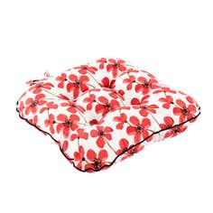Red Painted Poppy Collection Seat Pad
