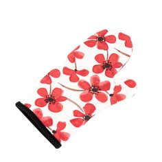 Red Painted Poppy Collection Oven Glove