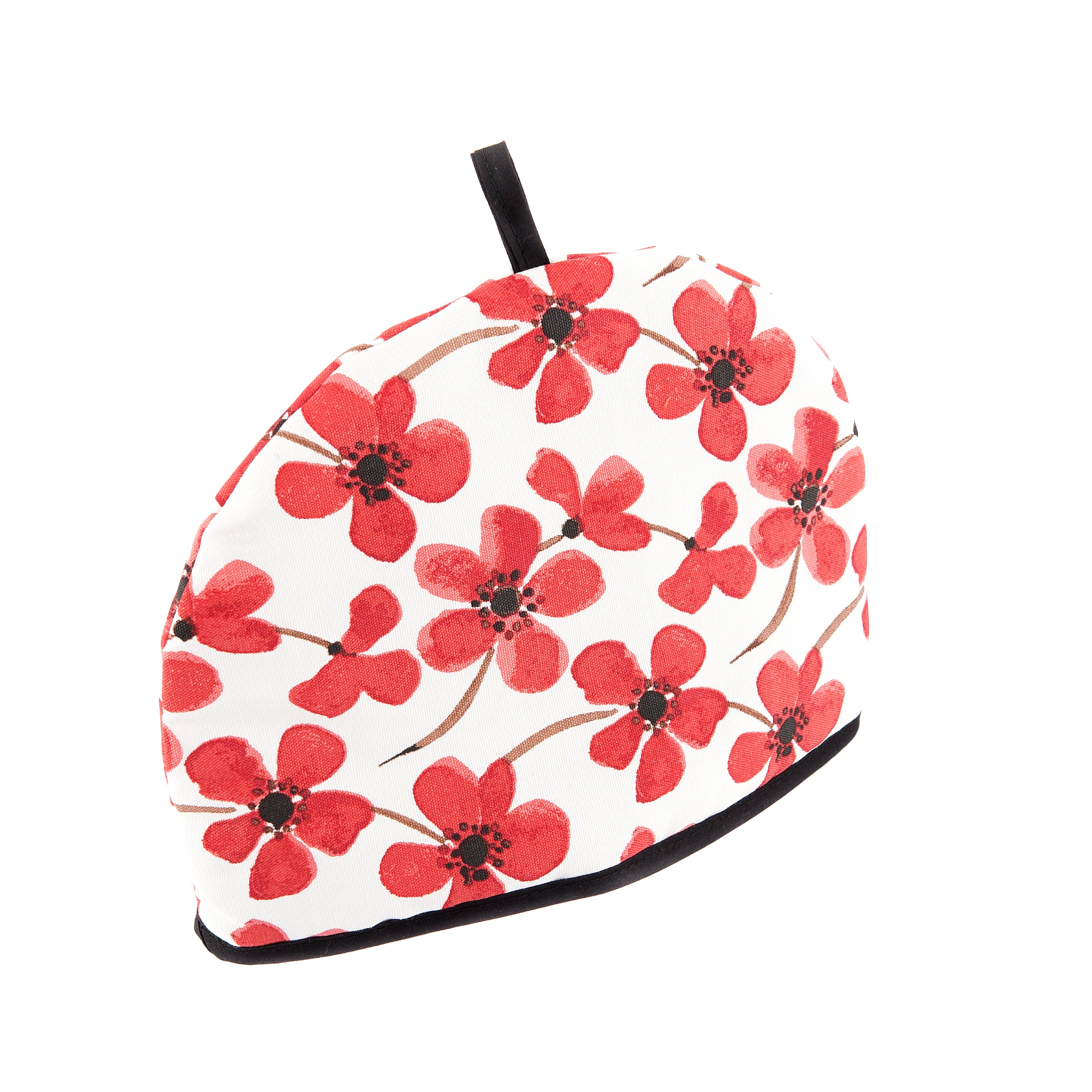 red painted poppy collection tea cosy dunelm. Black Bedroom Furniture Sets. Home Design Ideas