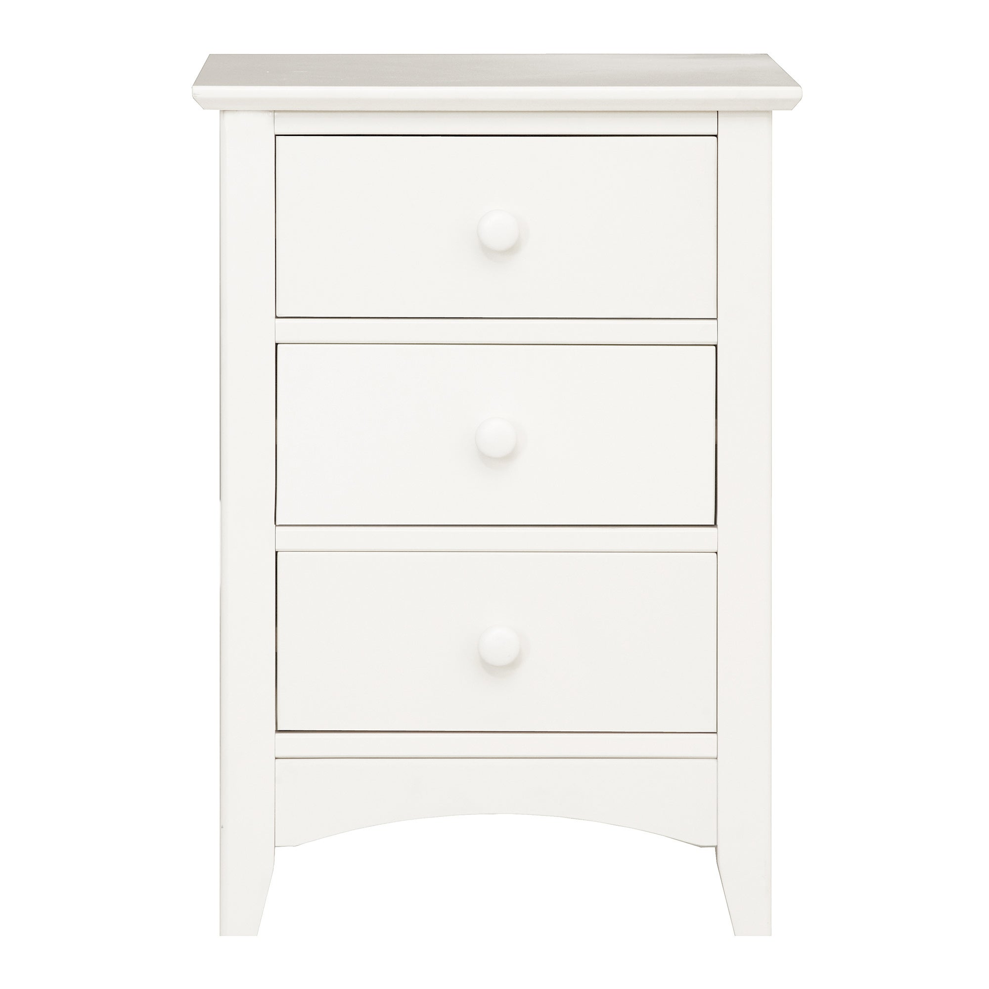 Windsor White 3 Drawer Bedside Unit