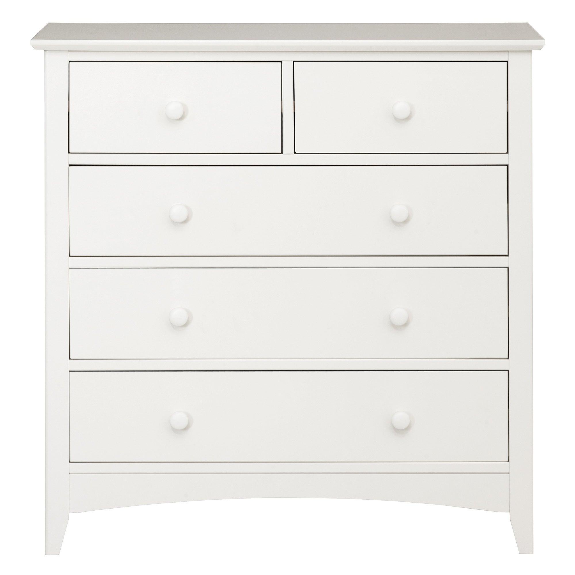 windsor white 5 drawer chest dunelm. Black Bedroom Furniture Sets. Home Design Ideas