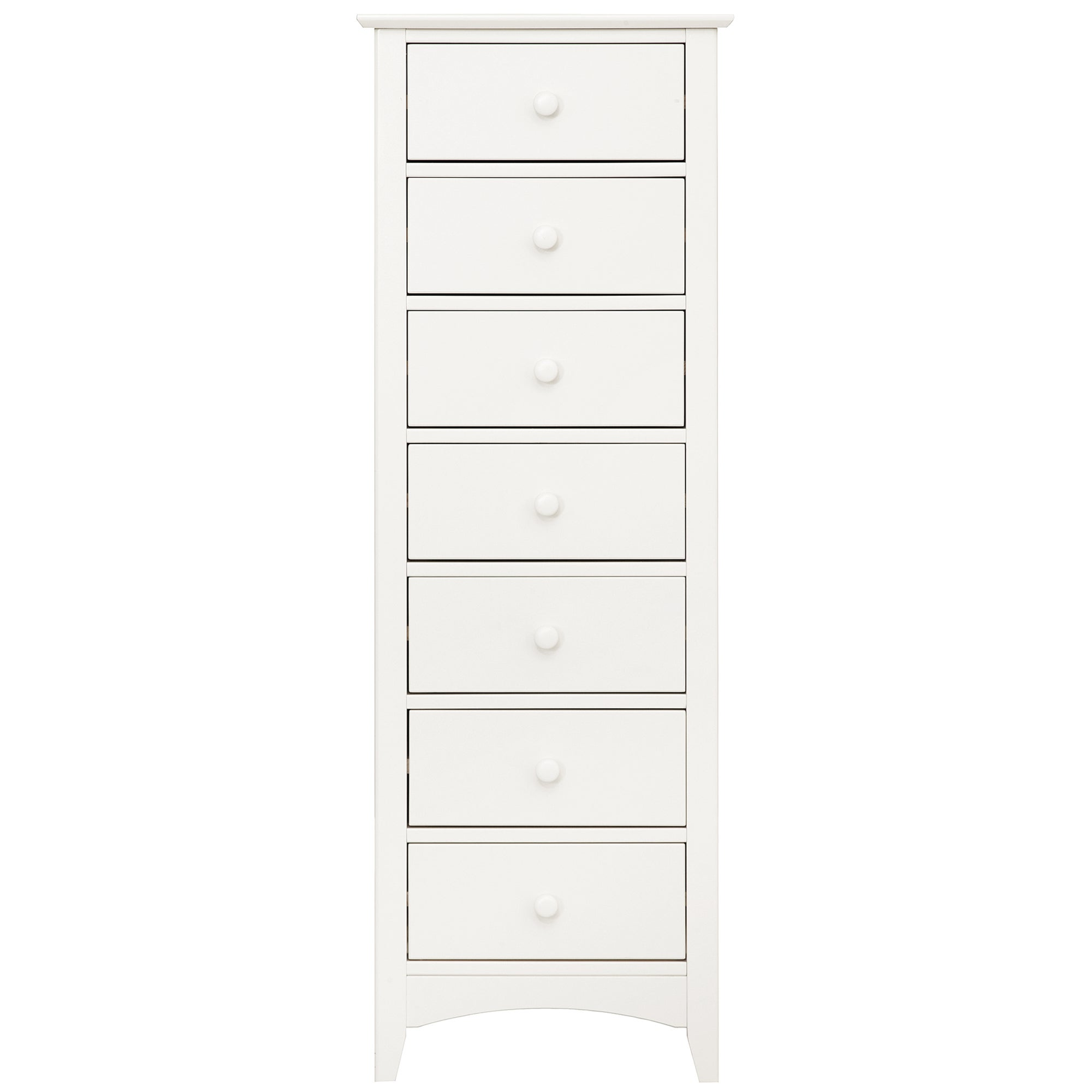 Windsor White 7 Drawer Tallboy