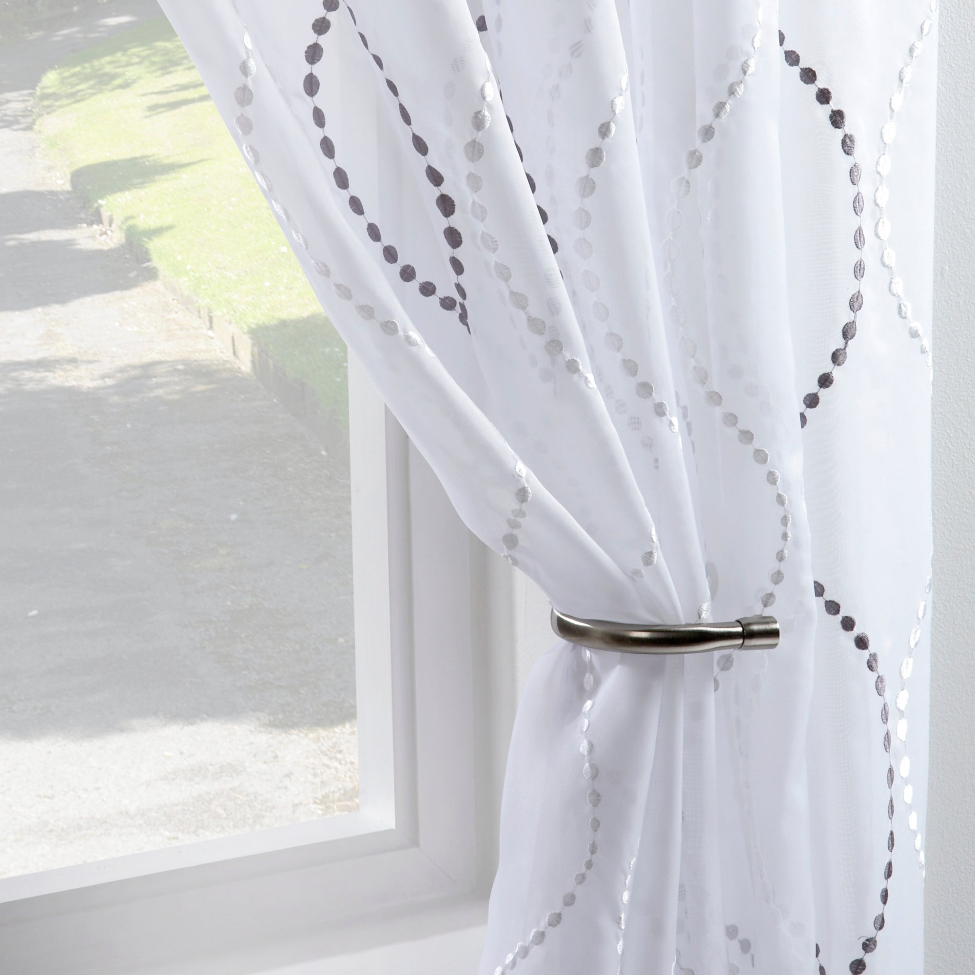 Ivory Ogee Voile Panel
