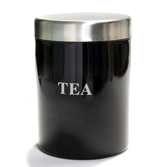 Black Spectrum Collection Tea Canister