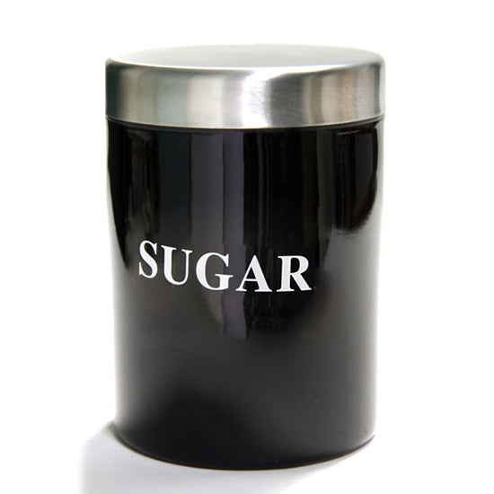 Black Spectrum Collection Sugar Canister