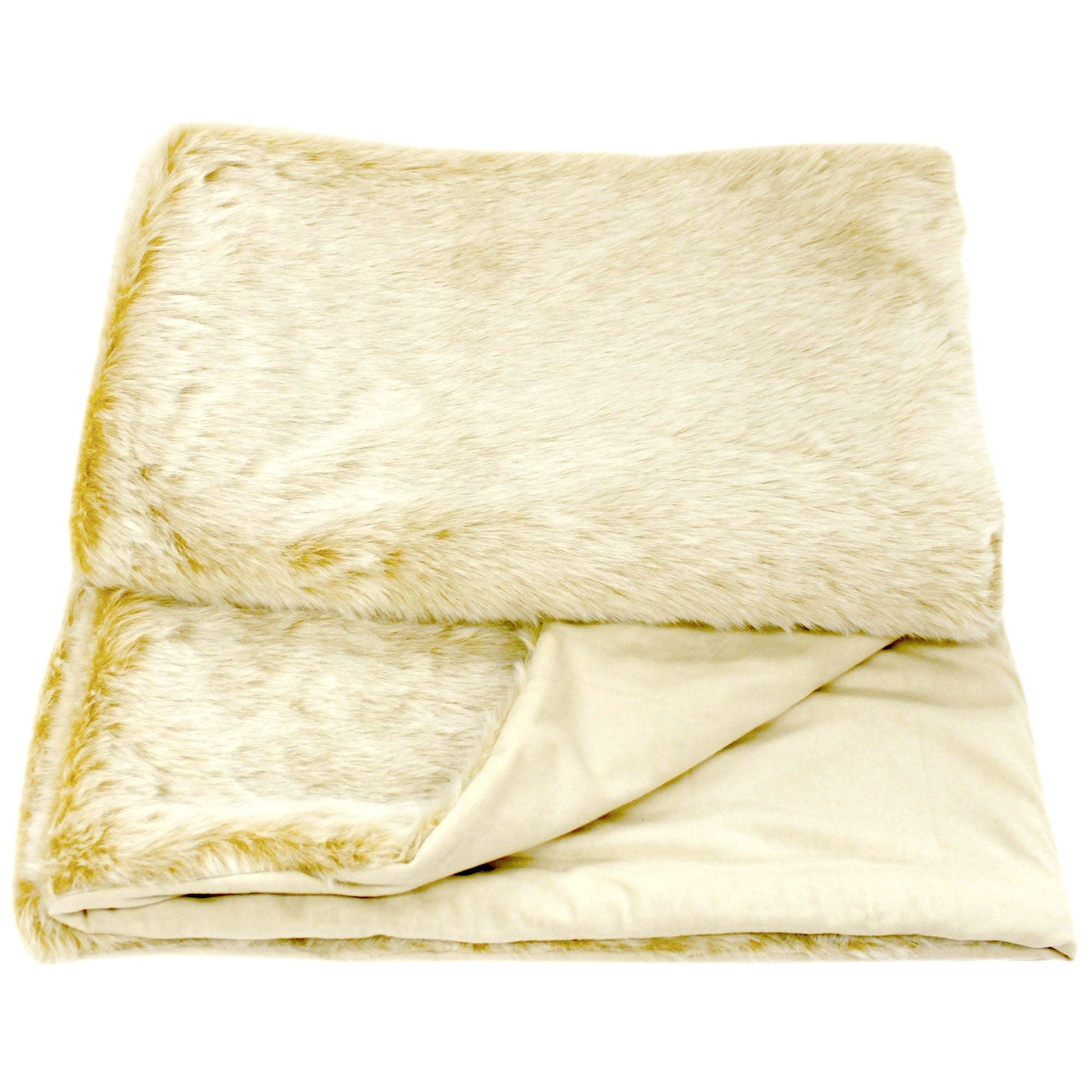 Luxury Faux Fur White Fox Throw
