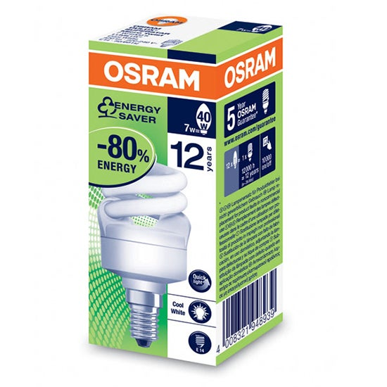 Osram Dulux 7 Watt Energy Saver Micro Twist Bulb