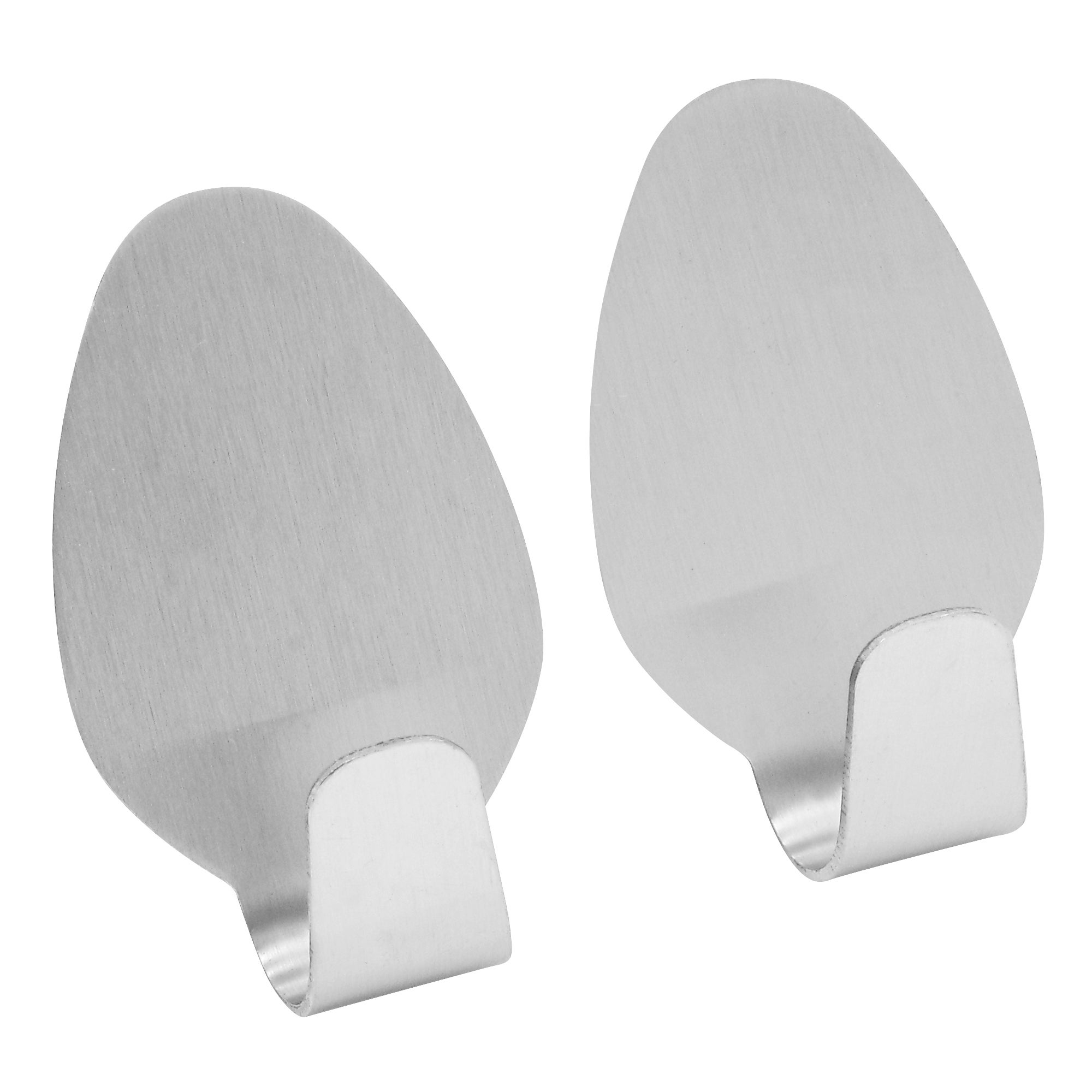 Stainless Steel Pack of 2 Self Adhesive Storage Hooks