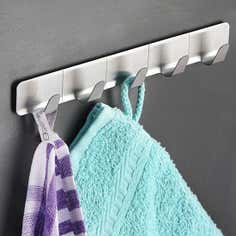 Self Adhesive Five Hook Storage Rail