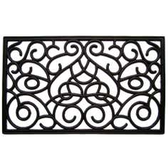 Scroll Rubber Doormat