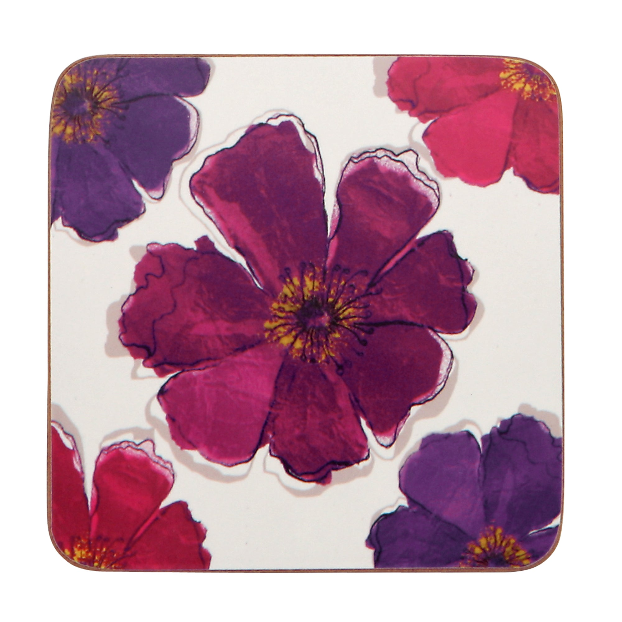 Mulberry Flower Collection Pack of 4 Coasters