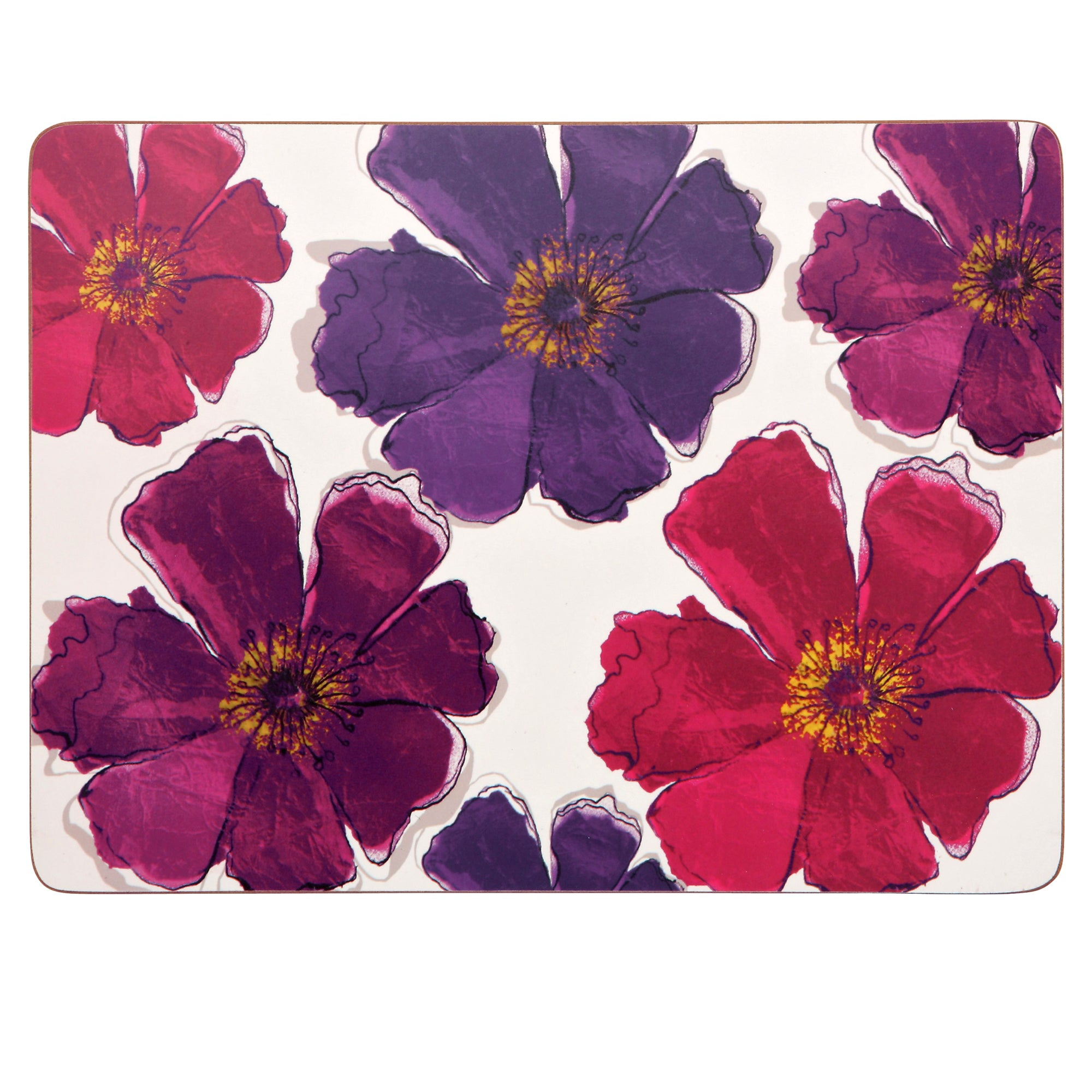 Mulberry Flower Collection Pack of 4 Placemats