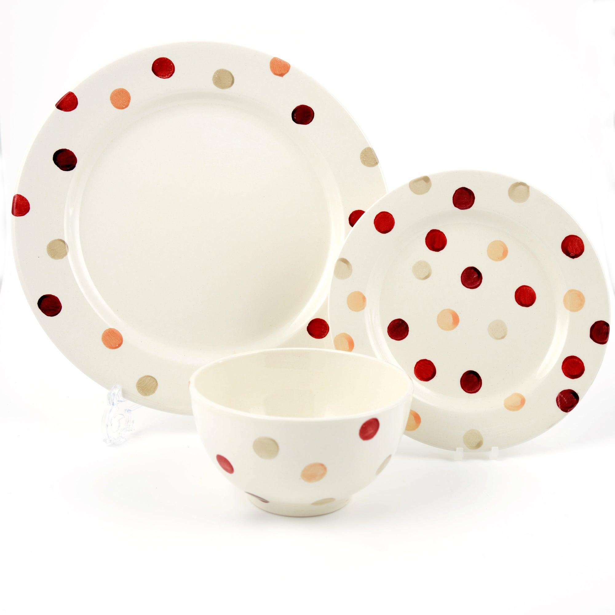 Red Country Spots Collection 12 Piece Dinner Set