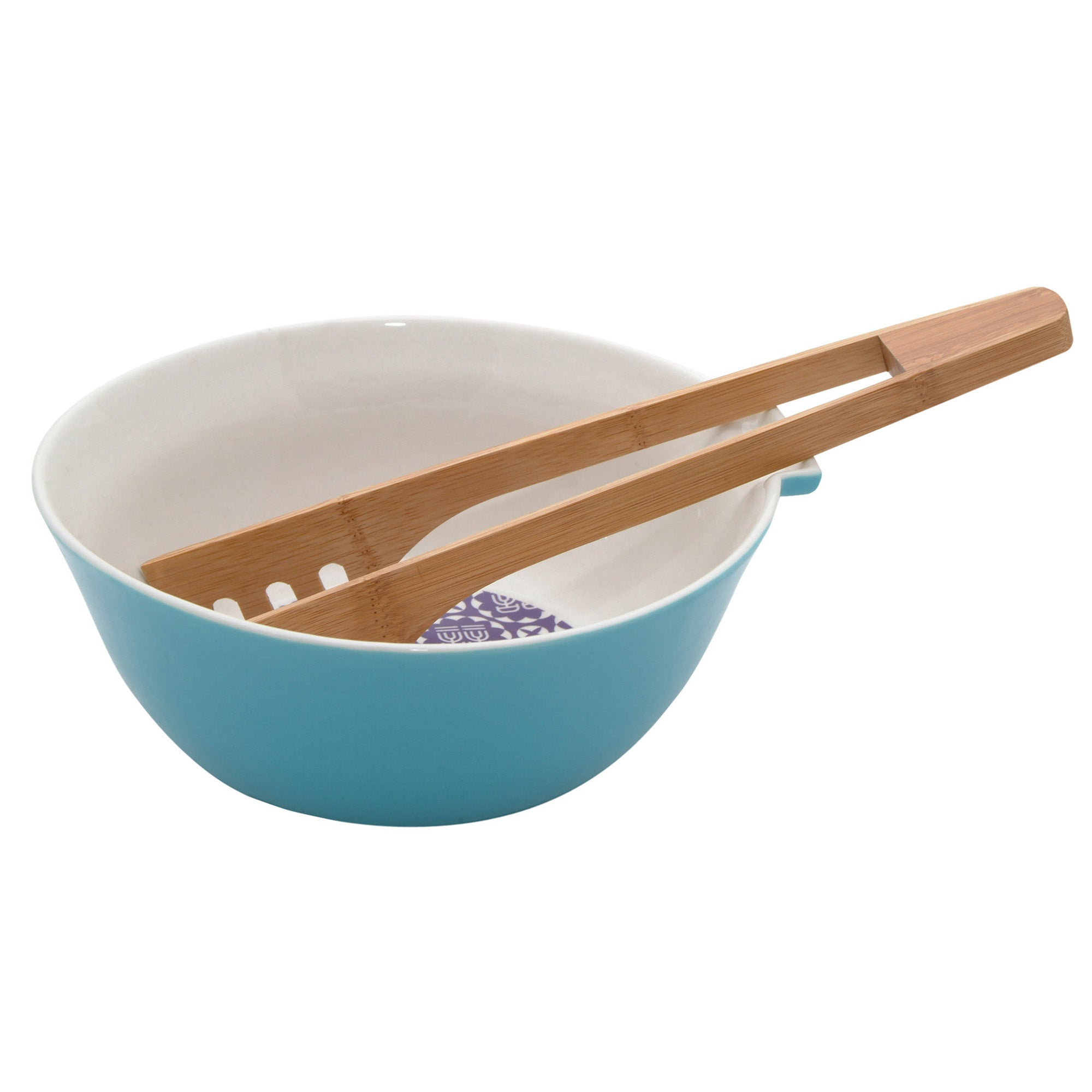 Ching He Huang Collection Serving Bowl with Bamboo Tongs