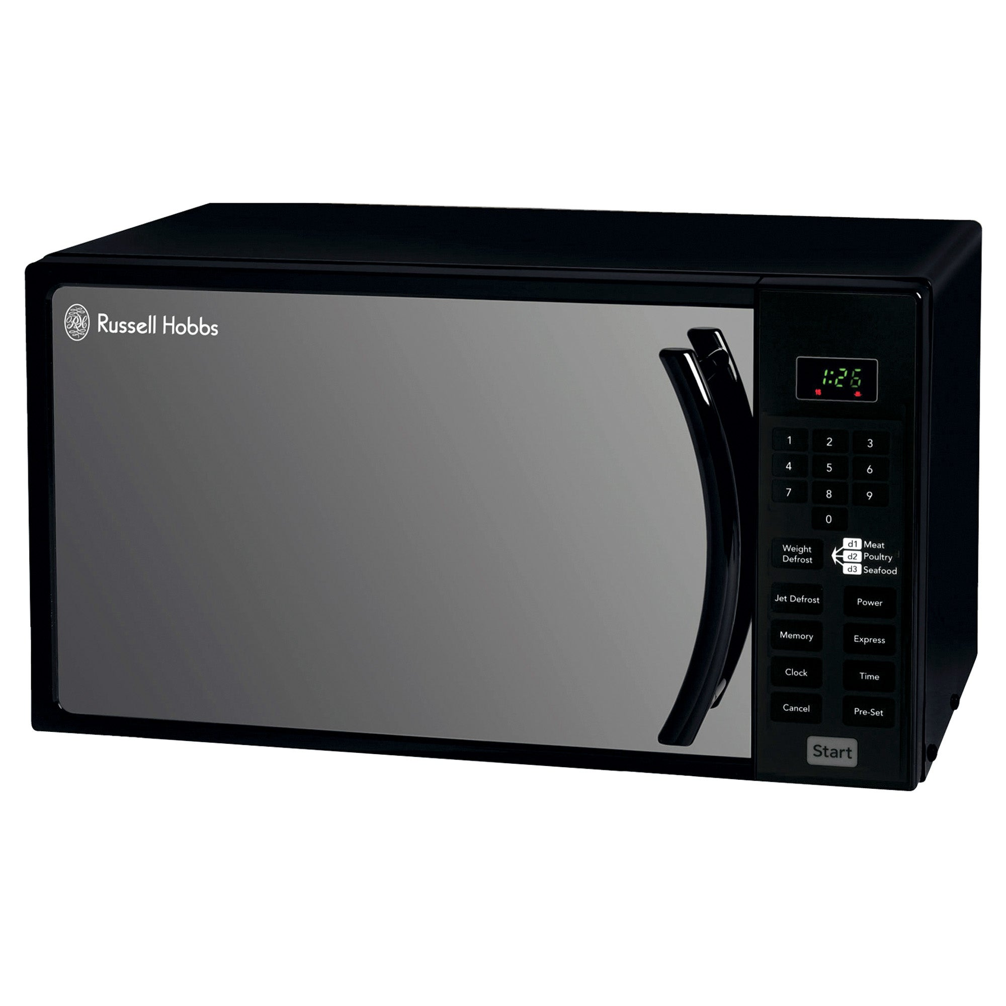 Russell Hobbs Black Touch Control Microwave