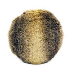 Wolf Pure Luxury Faux Fur Round Cushion