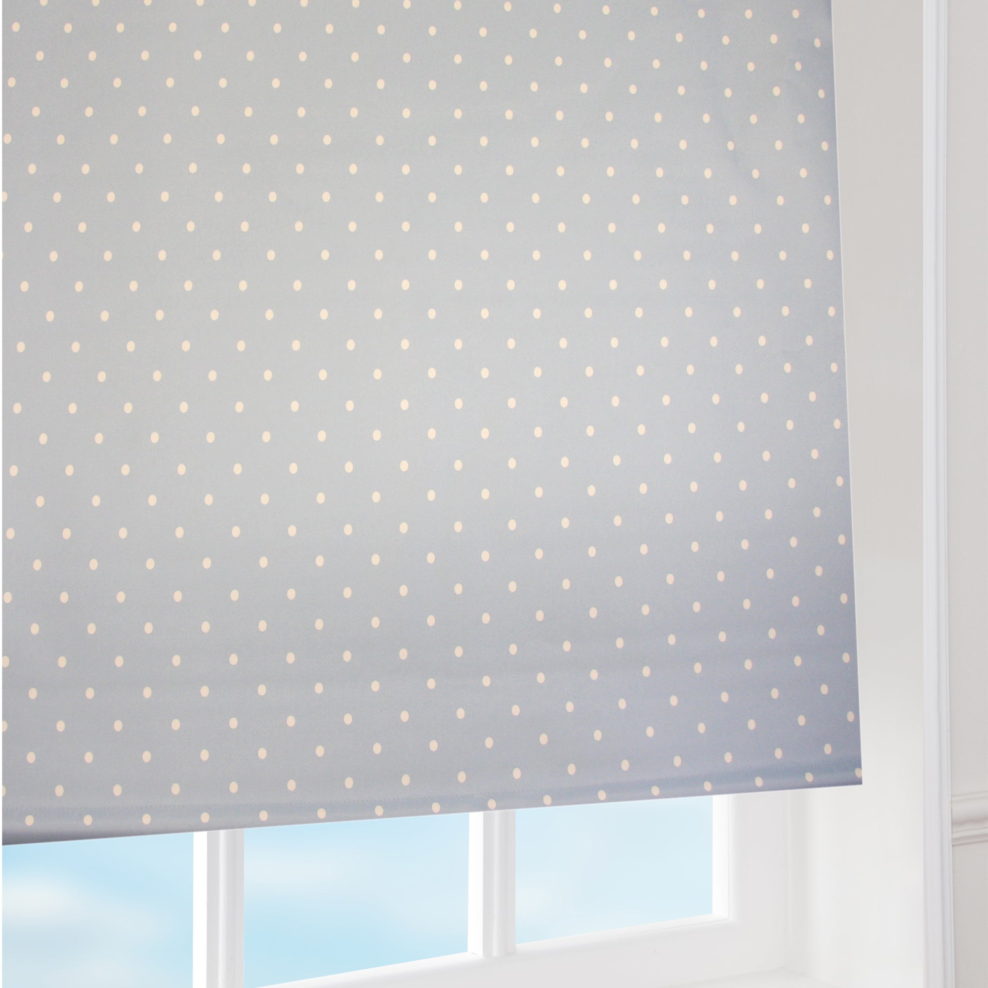 Blue Dotty Roller Blind