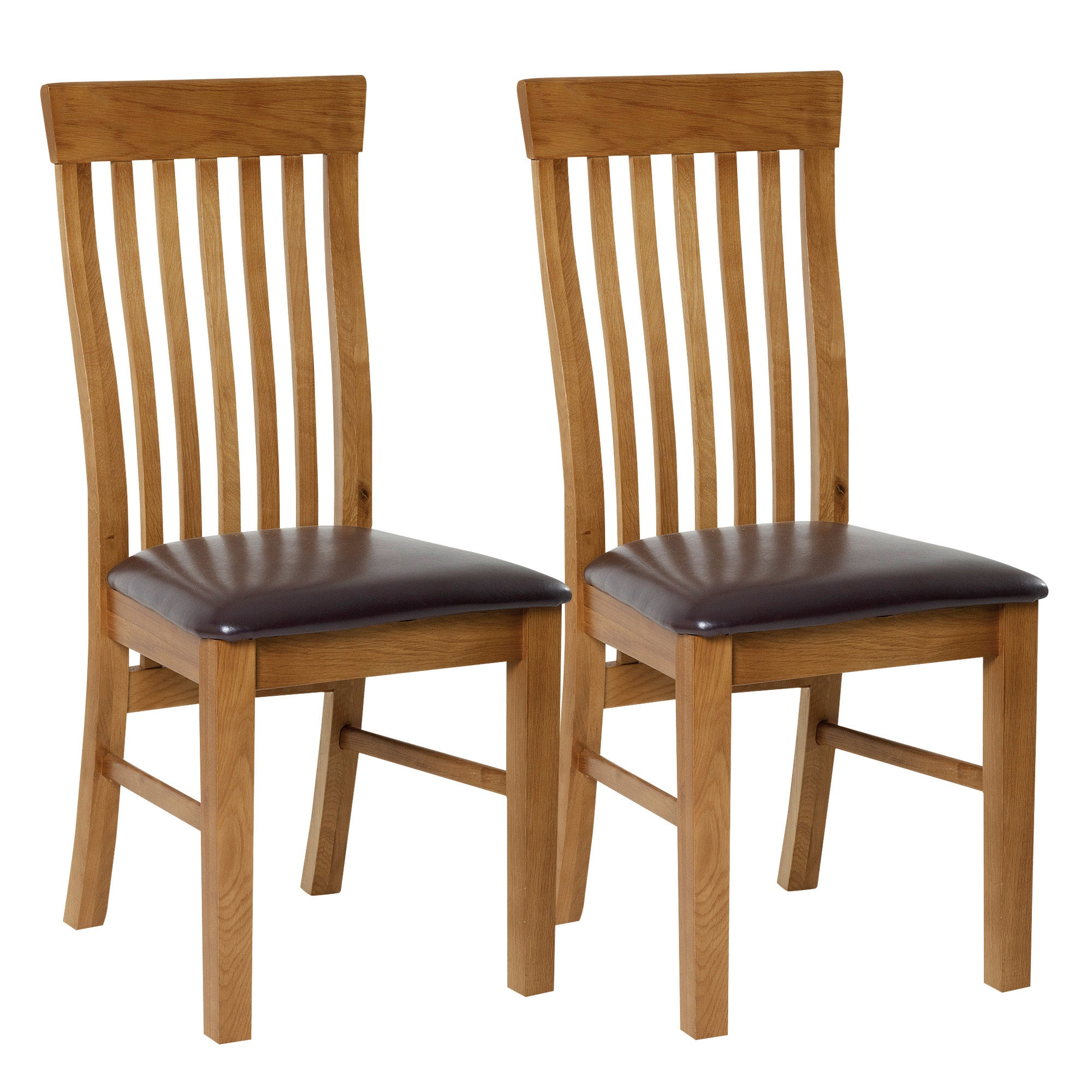 Dorchester Oak Pair of Dining Chairs