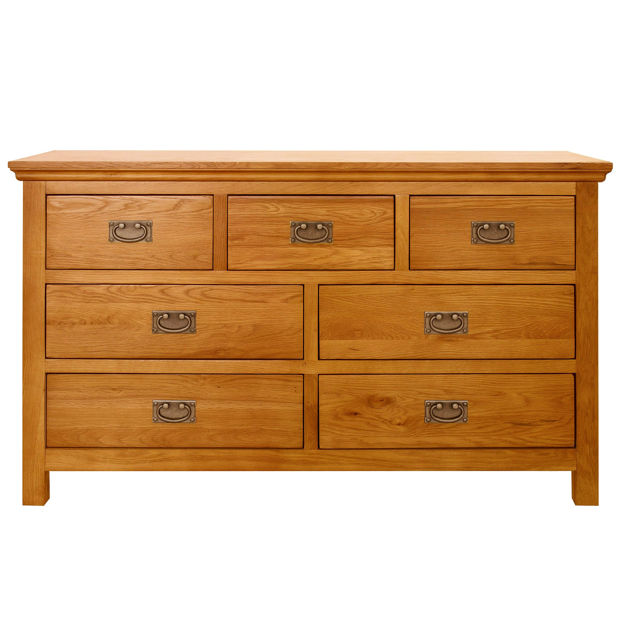 Dorchester Oak 7 Drawer Chest