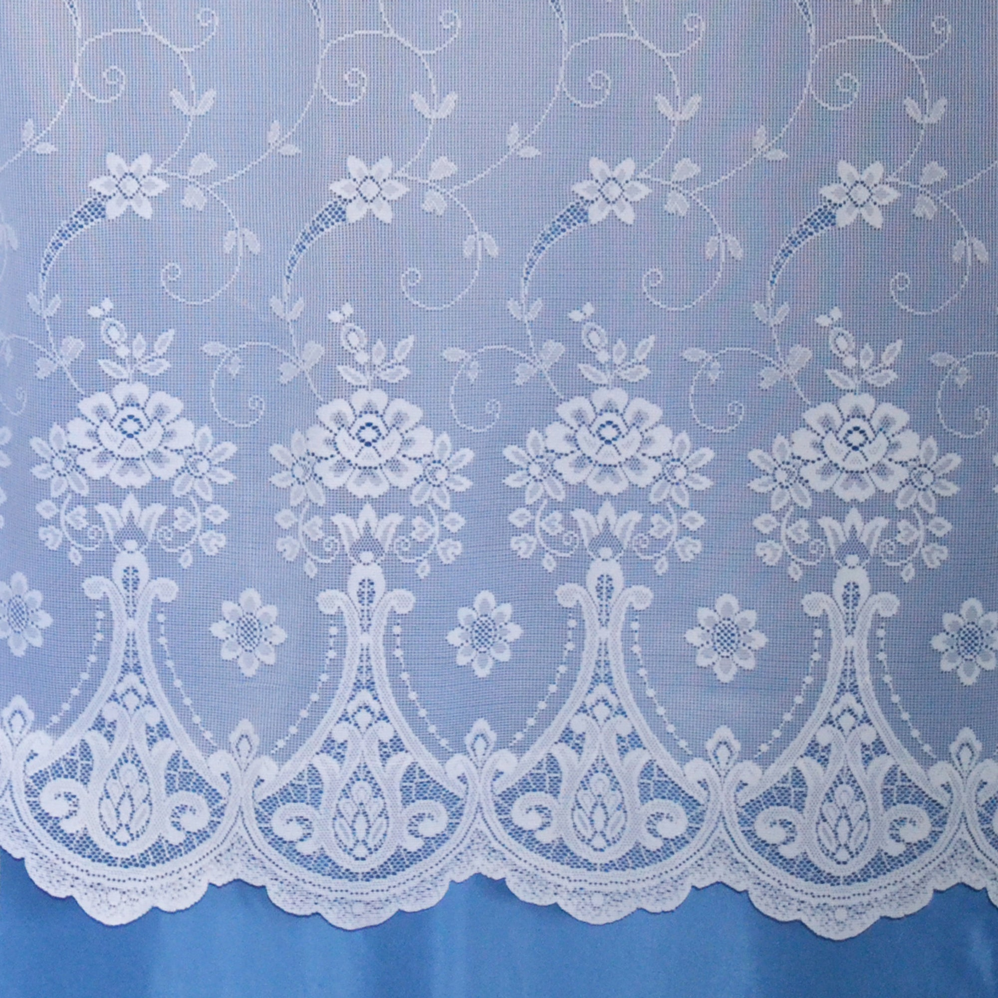 Pembury White Lace Net Fabric