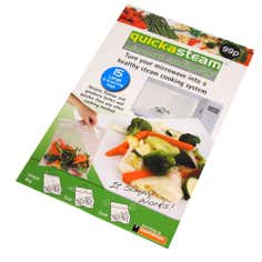 Quickasteam Pack of 15 Large Microwave Cooking Bags
