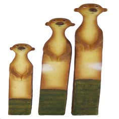 Key Lime Collection Set of Three Meerkats