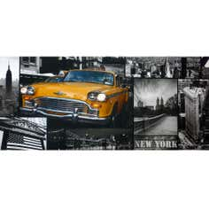 London and New York Printed Canvas