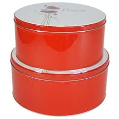 Poppy Collection Set of 2 Storage Tins