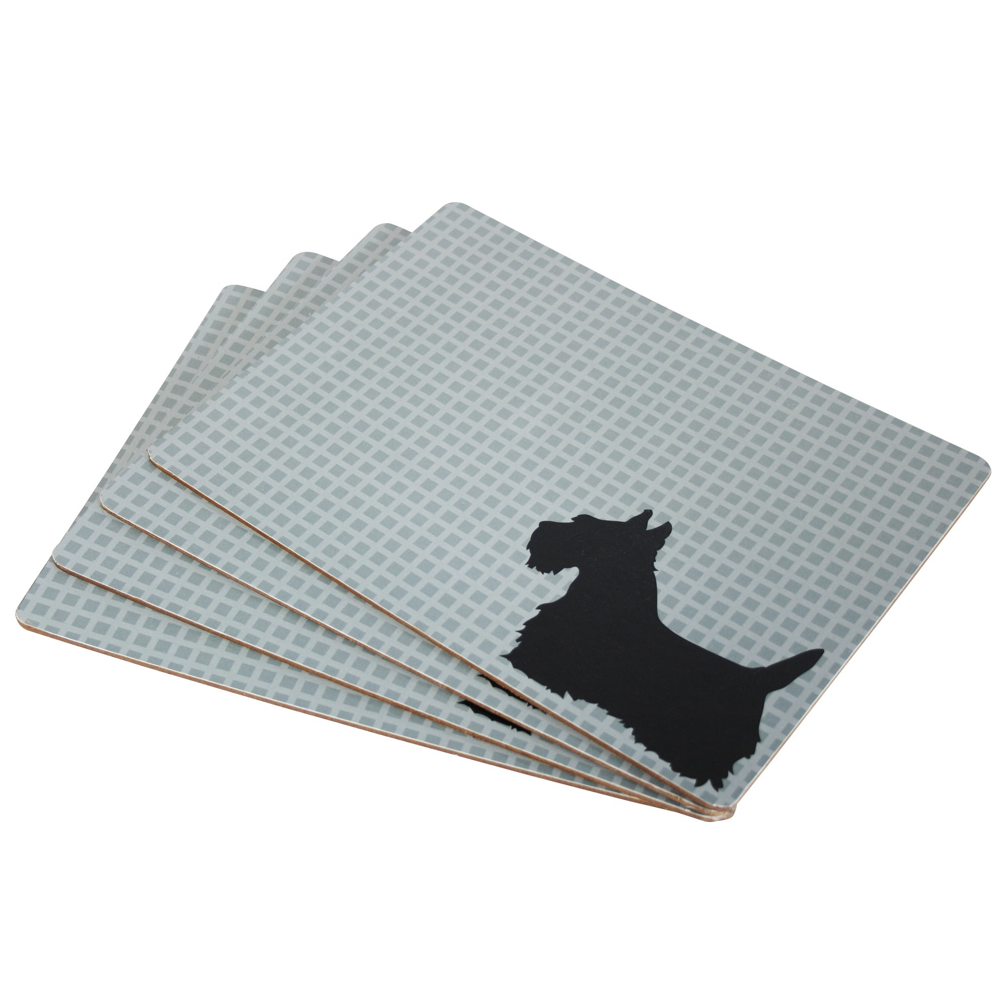 Scottish Collection Scottie Dog Set of 4 Placemats