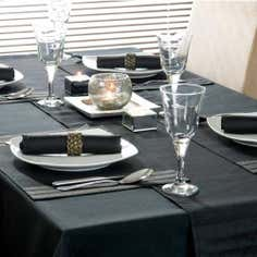 Black Spectrum Collection Round Tablecloth