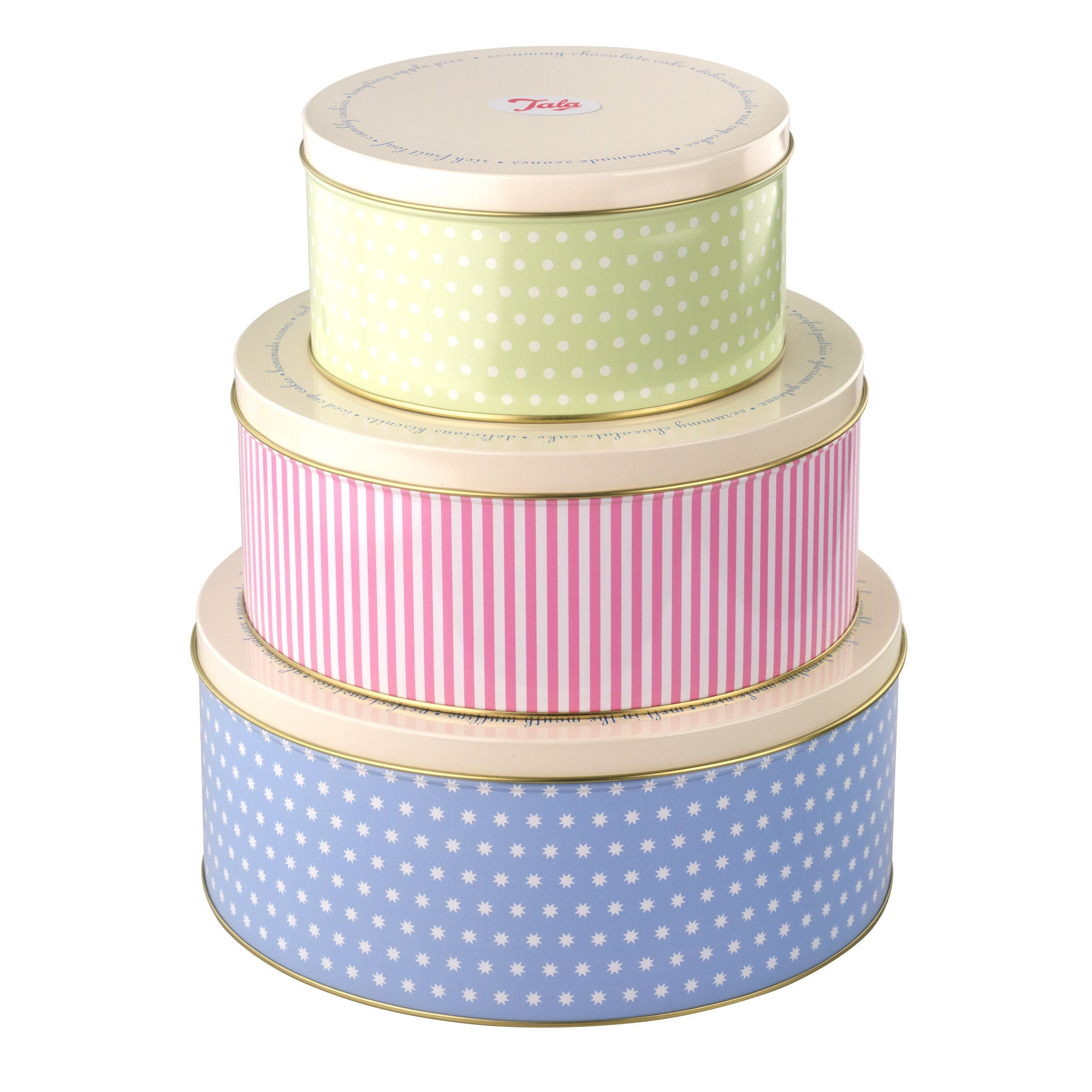 Tala Set of 3 Retro Cake Tins