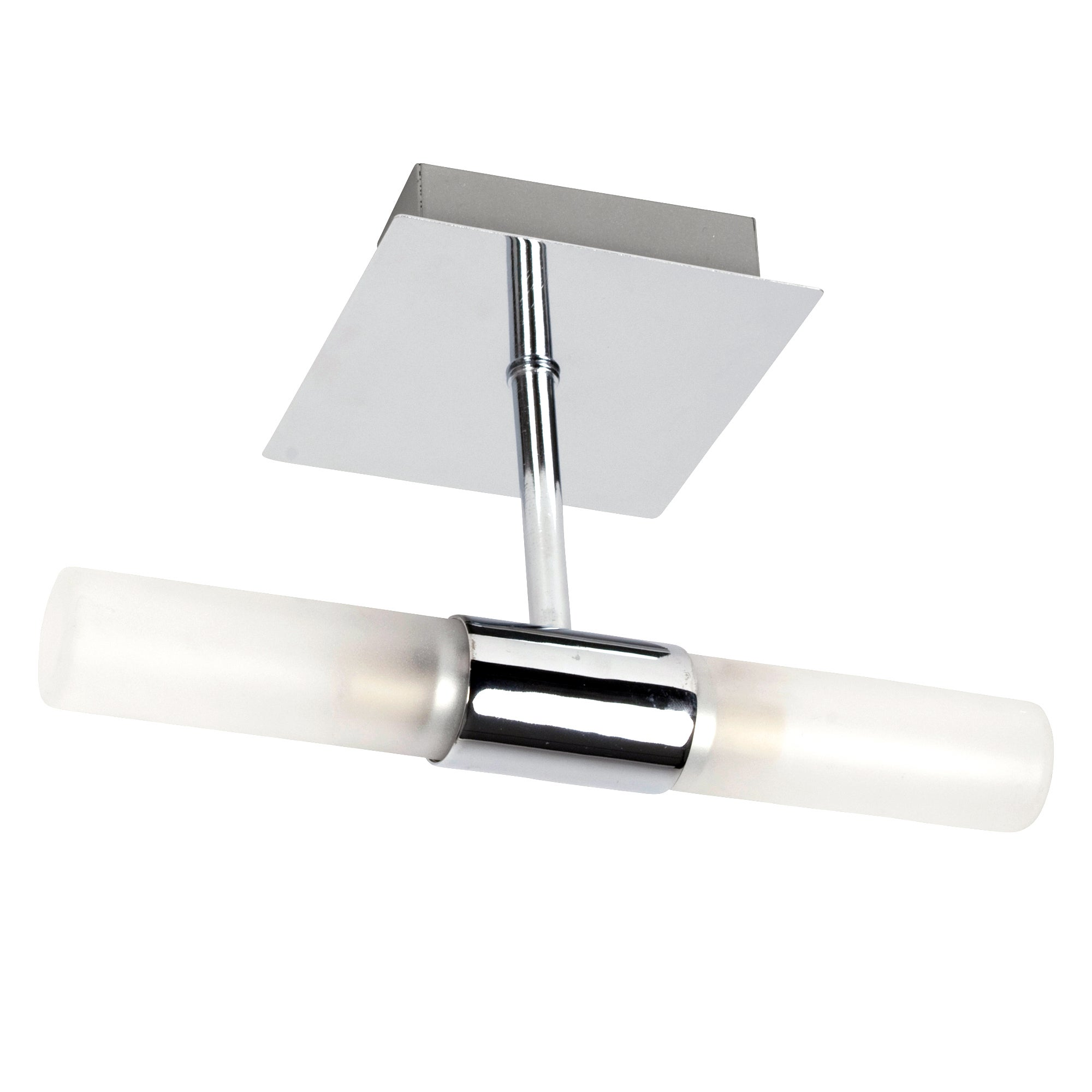 Twin Glass Bathroom Wall Light
