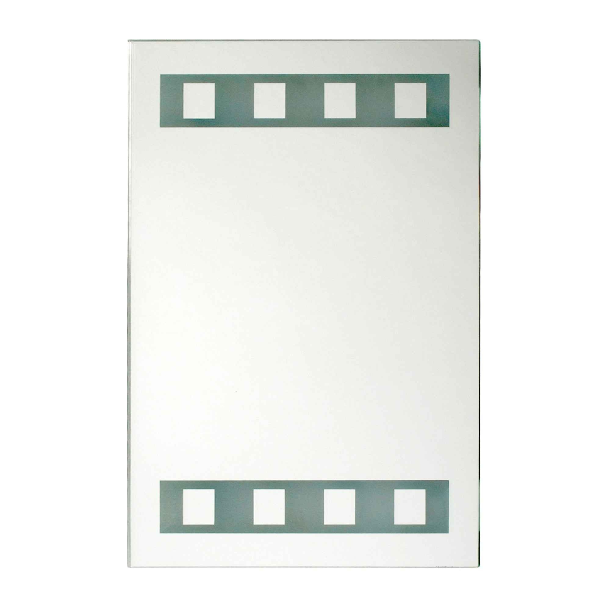 Silver Light up Bathroom Mirror