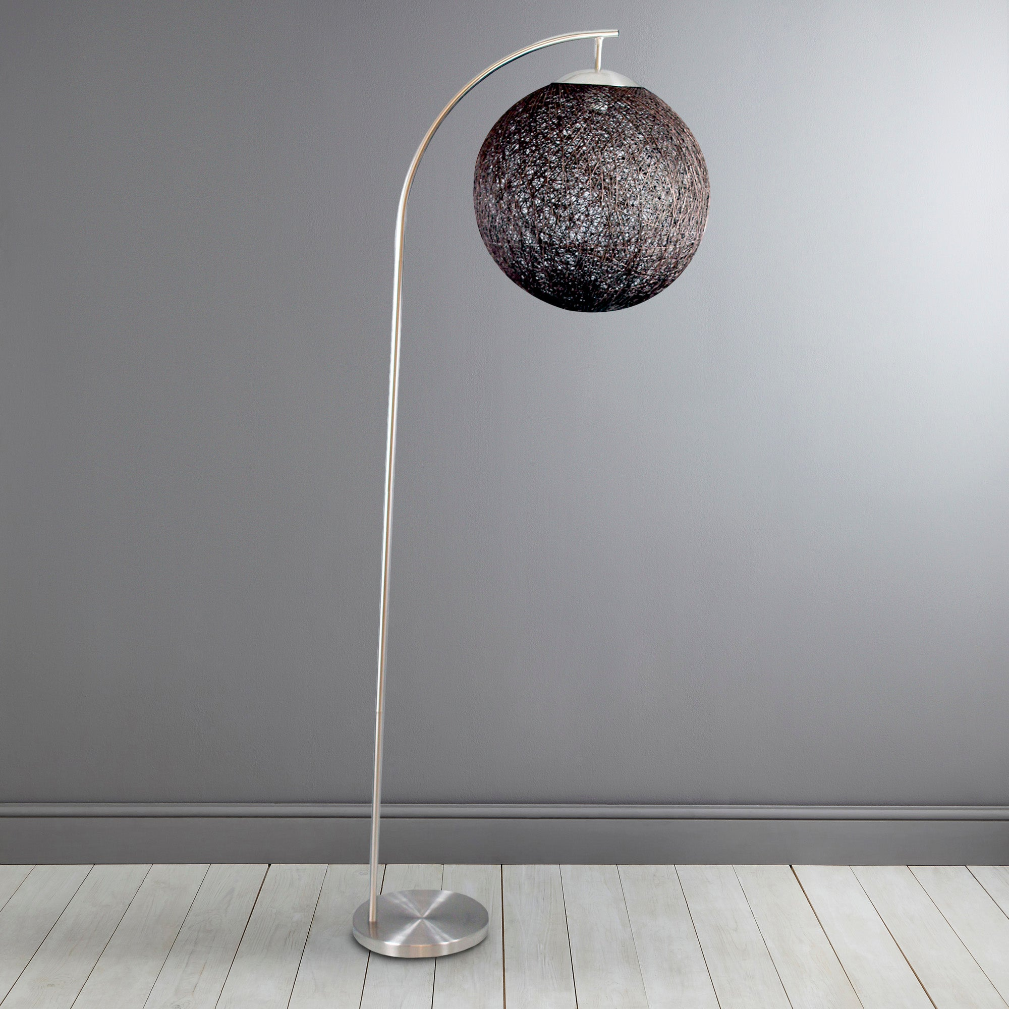 Abaca Ball Floor Lamp