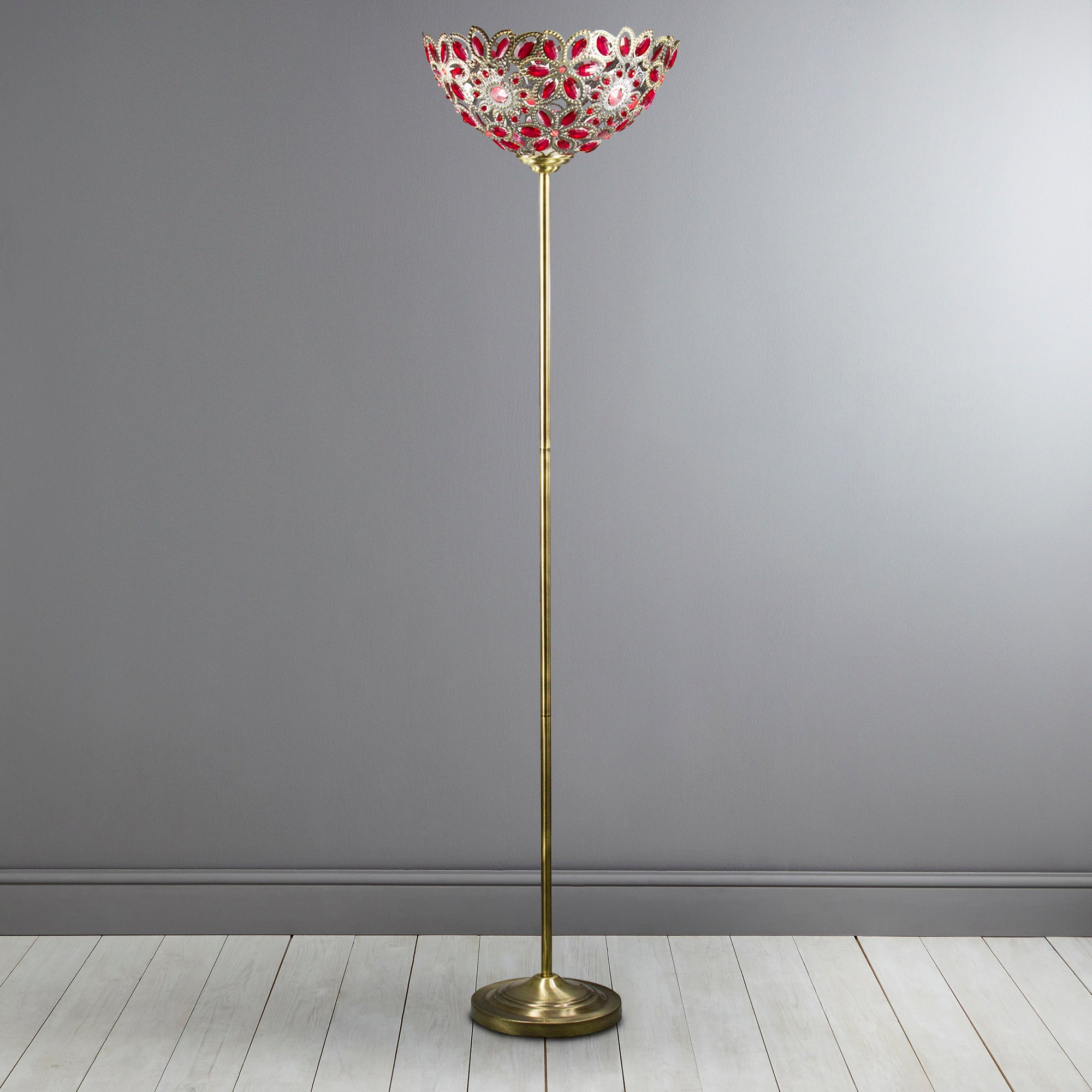Moroccan Red Uplighter Floor Lamp