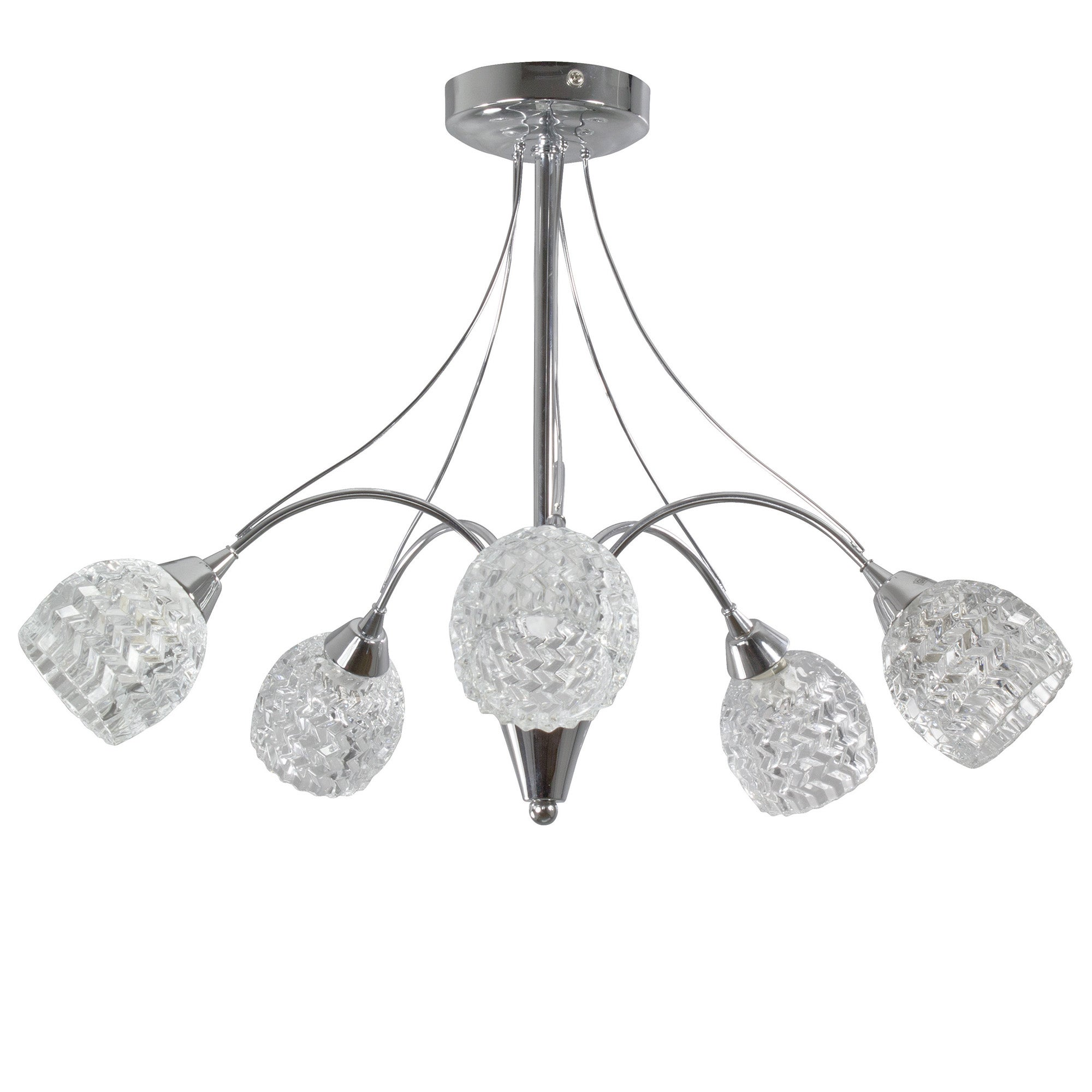 Metro 5 Light Fitting Chrome