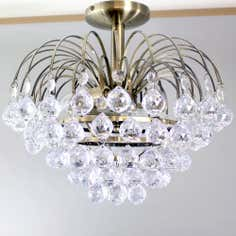 Beaded Droplet Chandelier