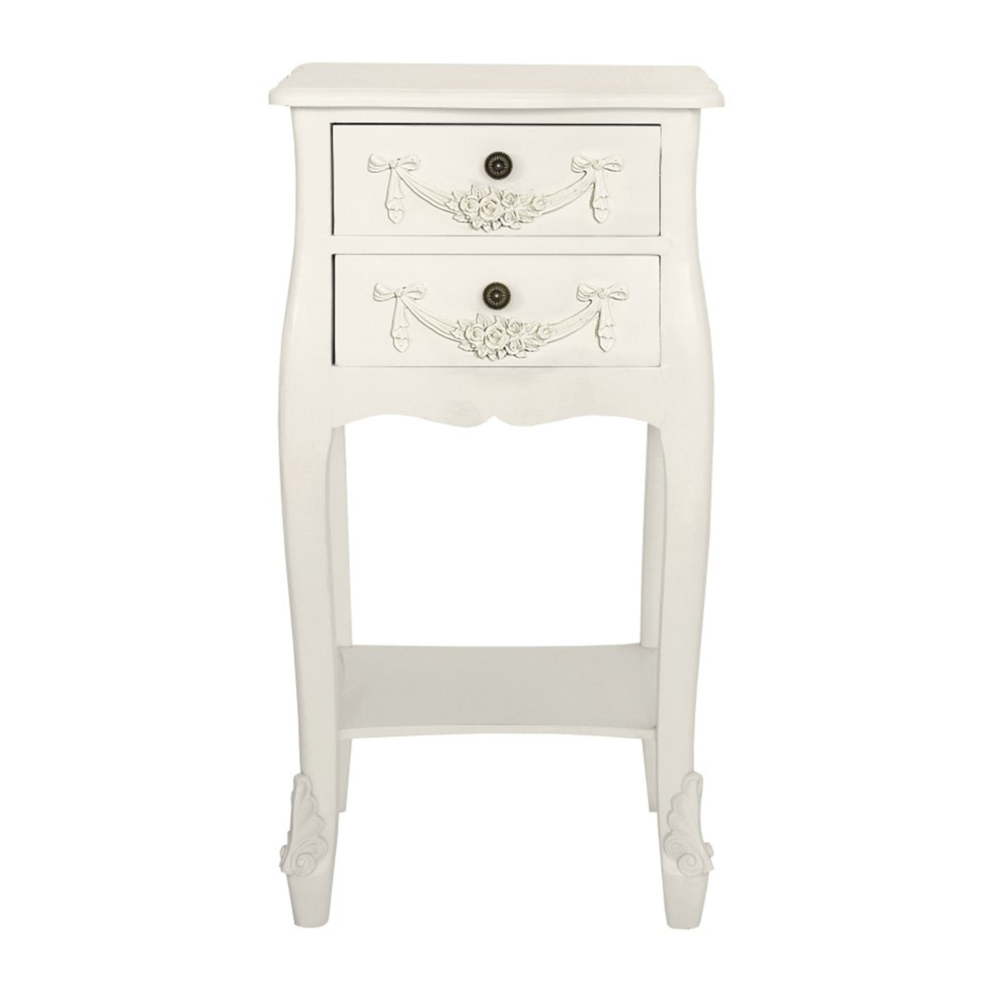 Toulouse White 2 Drawer Nightstand