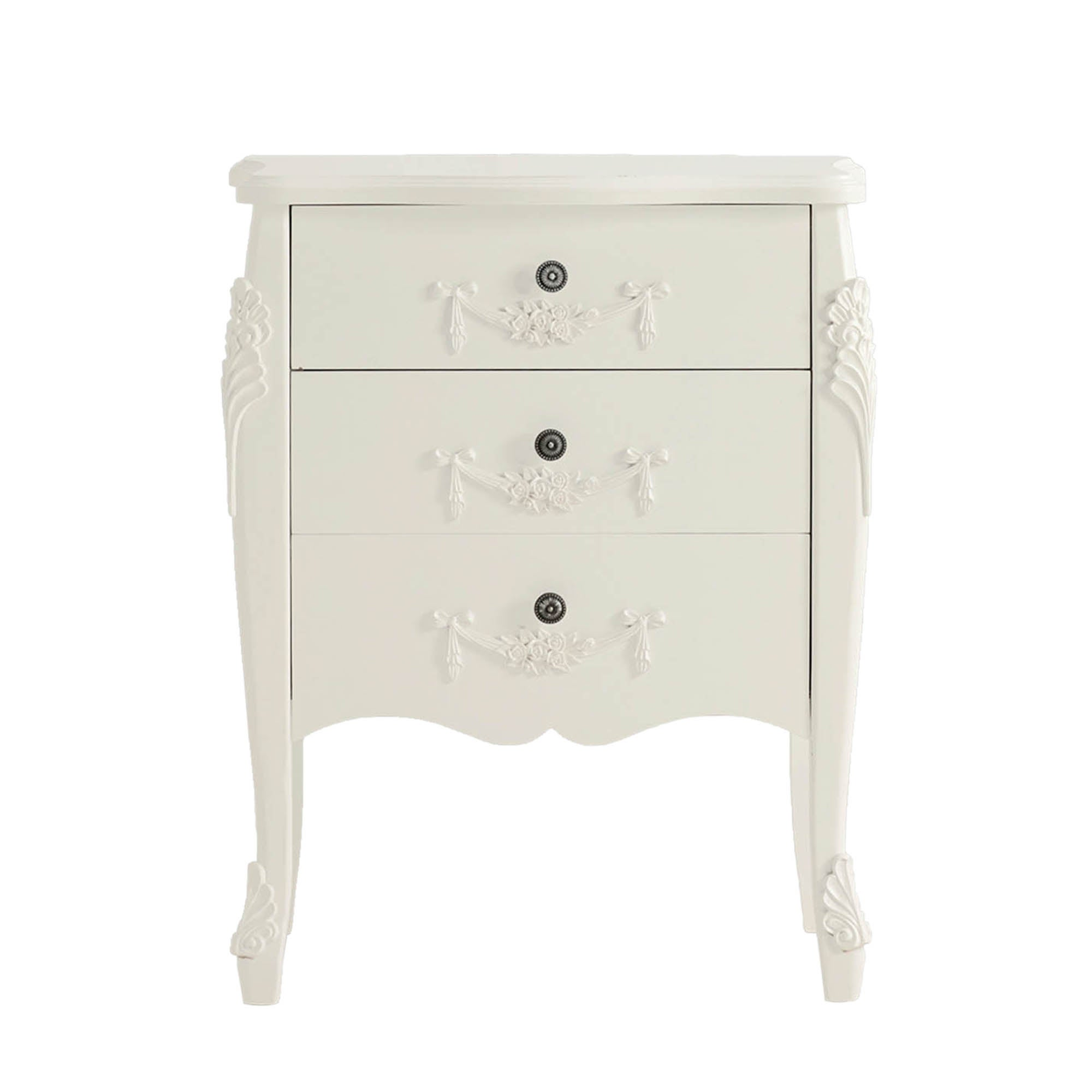 Toulouse White 3 Drawer Chest