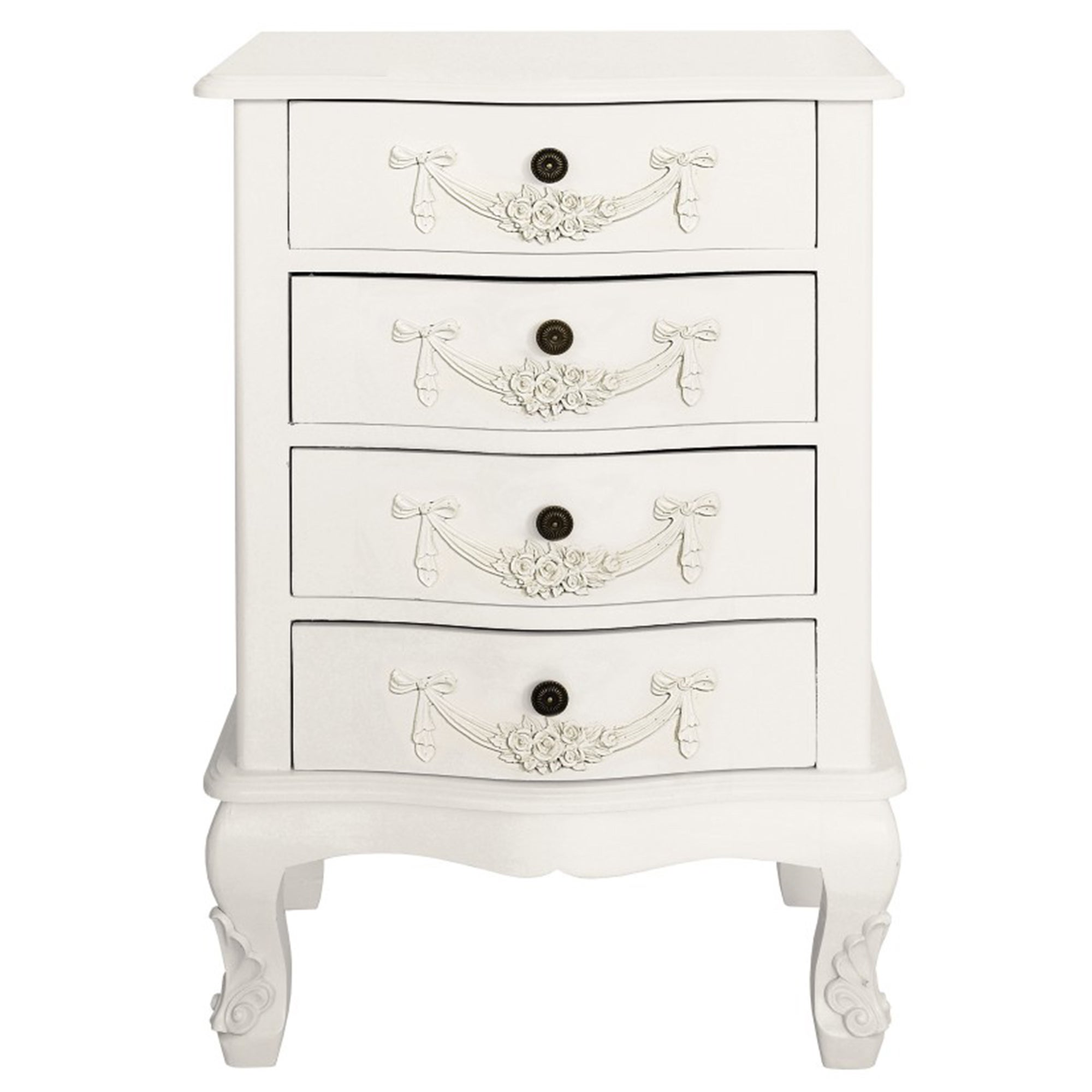 Toulouse White 4 Drawer Cabinet