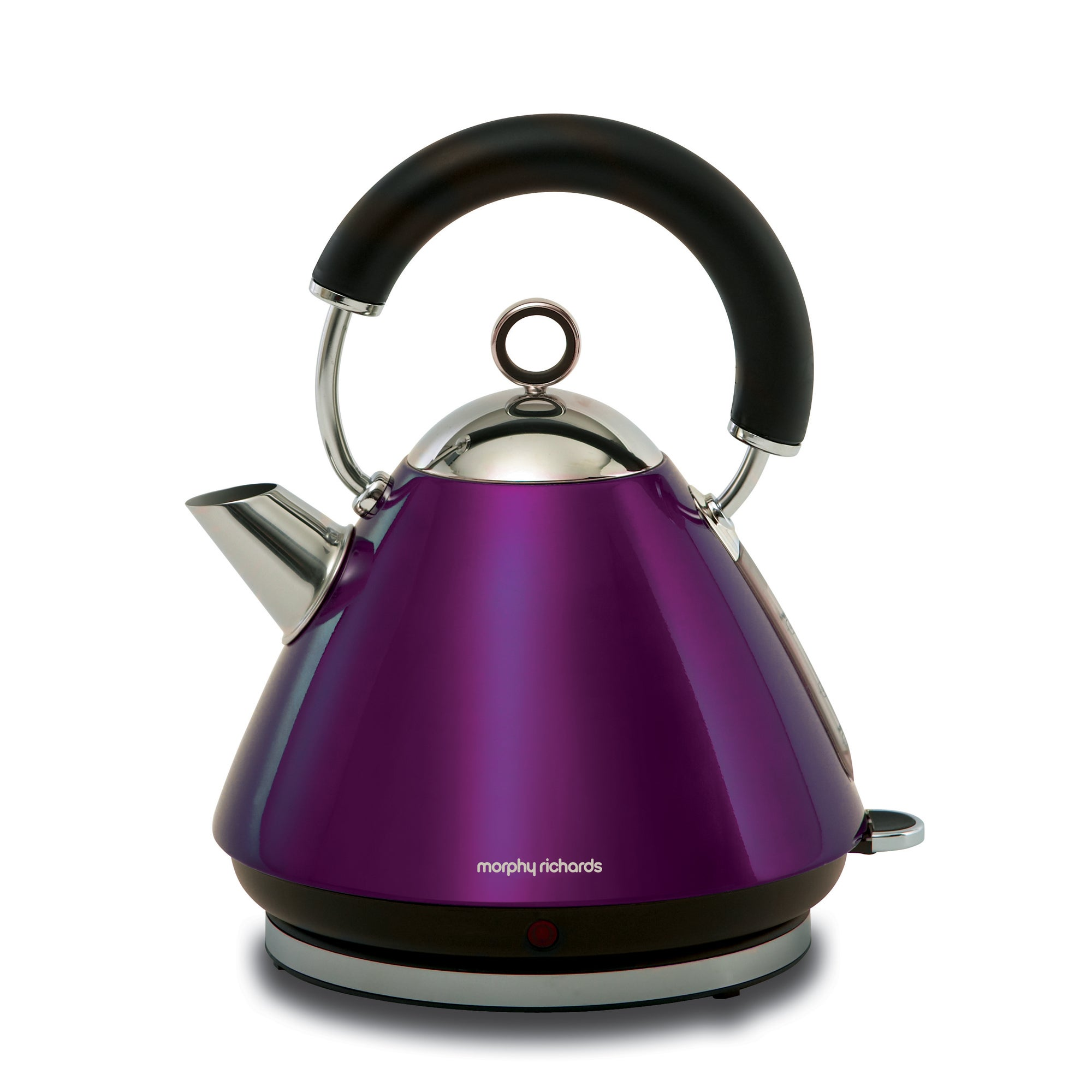 Morphy Richards Accents Purple Pyramid Kettle