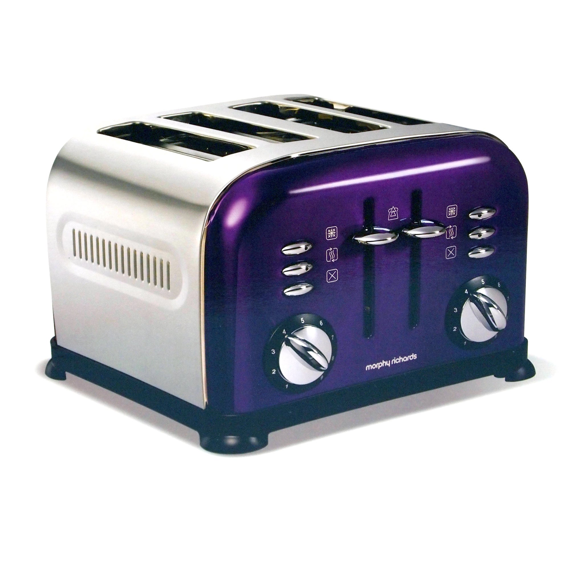 Morphy Richards Accents Purple 4 Slice Toaster